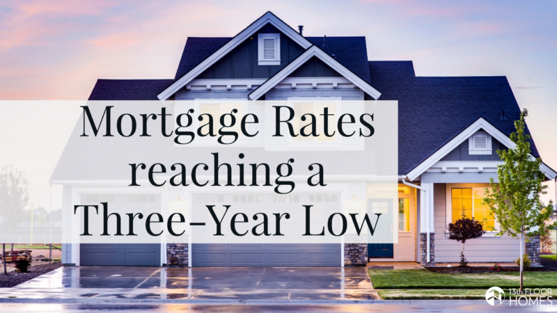 Mortgage rates are reaching a nearly three-year low